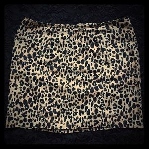 Leopard Print 🐆 Mini Skirt NWOT